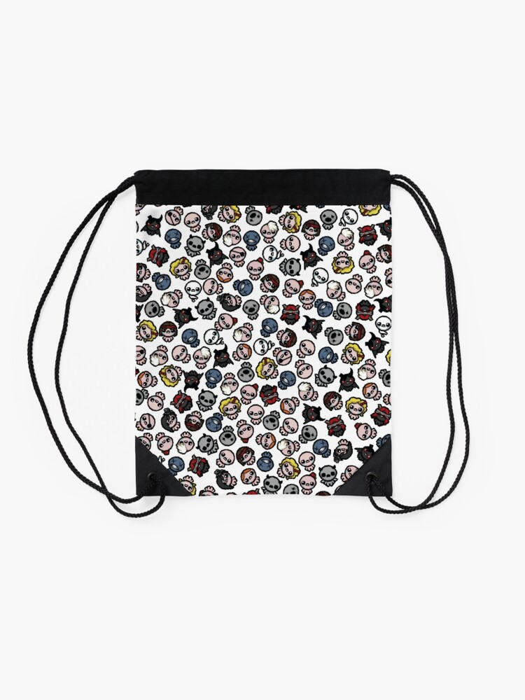 Alternate view of The Binding of Isaac characters pattern + Drawstring Bag