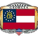 Georgia Art Deco Design with Flag by Cleave