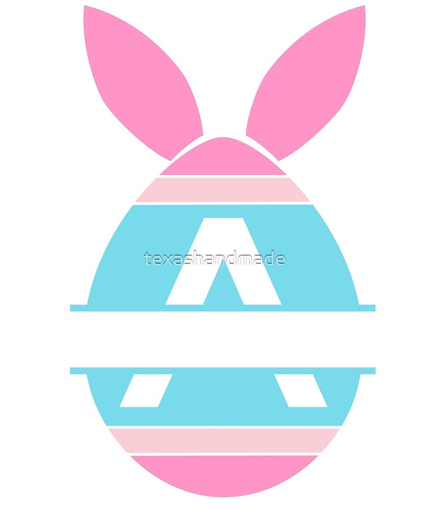 Happy Easter Monogram Shirt by texashandmade