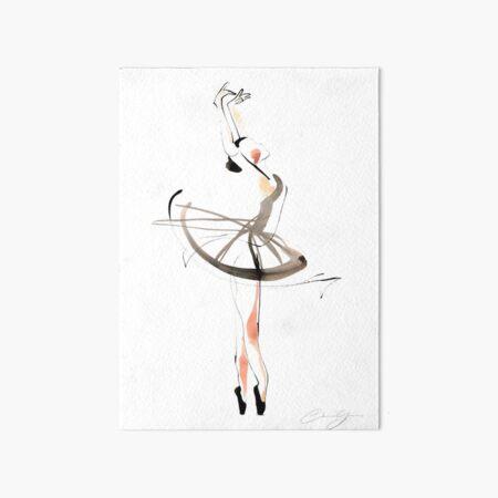 Ballet Dance Drawing Art Board Print