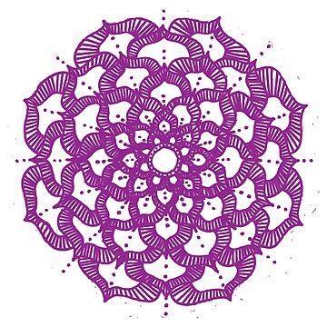 Purple Mandala by ClaraFae