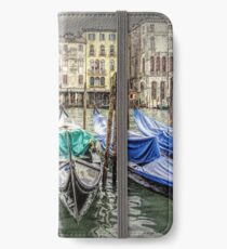 Rainy day on The Grand Canal in Venice iPhone Wallet/Case/Skin