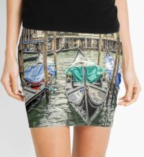 Rainy day on The Grand Canal in Venice Mini Skirt