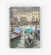Rainy day on The Grand Canal in Venice Spiral Notebook