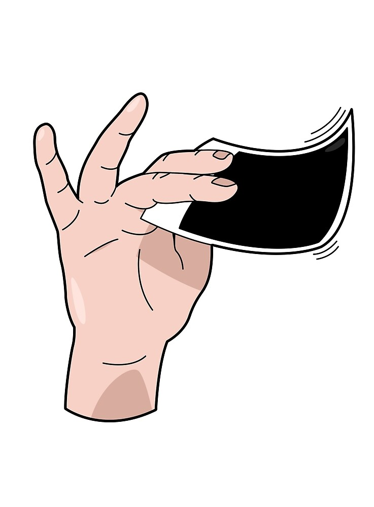 Polaroid hand. Shake it like a