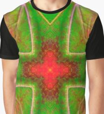 Green Cross Mandala Graphic T-Shirt