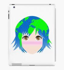 Earth-chan Simple Vector iPad Case/Skin