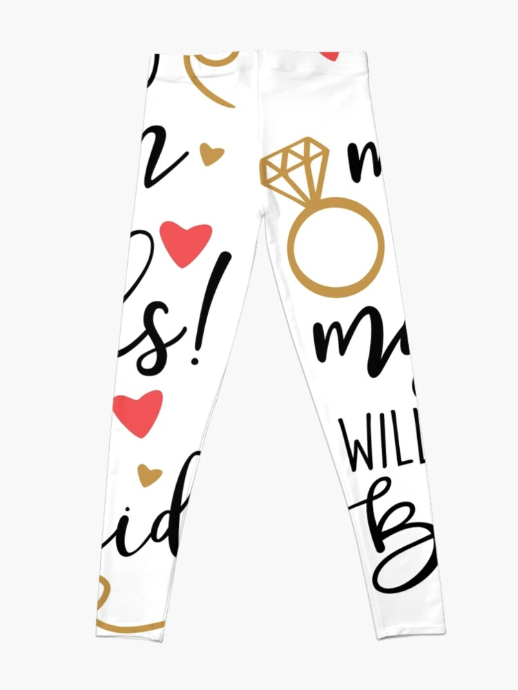 Alternate view of will you be my bridesmaid Leggings