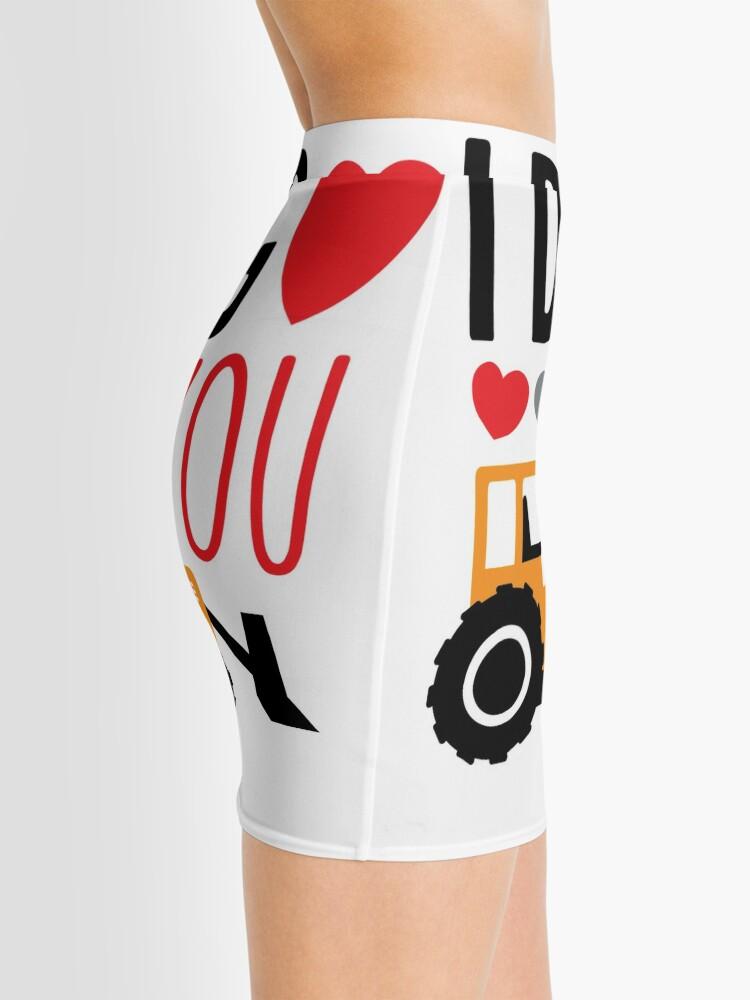 Alternate view of I Dig You Kids Valentine Shirt Mini Skirt
