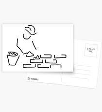 bricklayer construction worker building Postcards