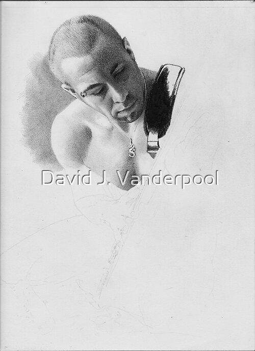 Simon - Drawing in Progress by David J. Vanderpool