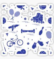 Equipment for sports activities for children. Sticker