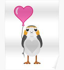Valentine Porg Poster