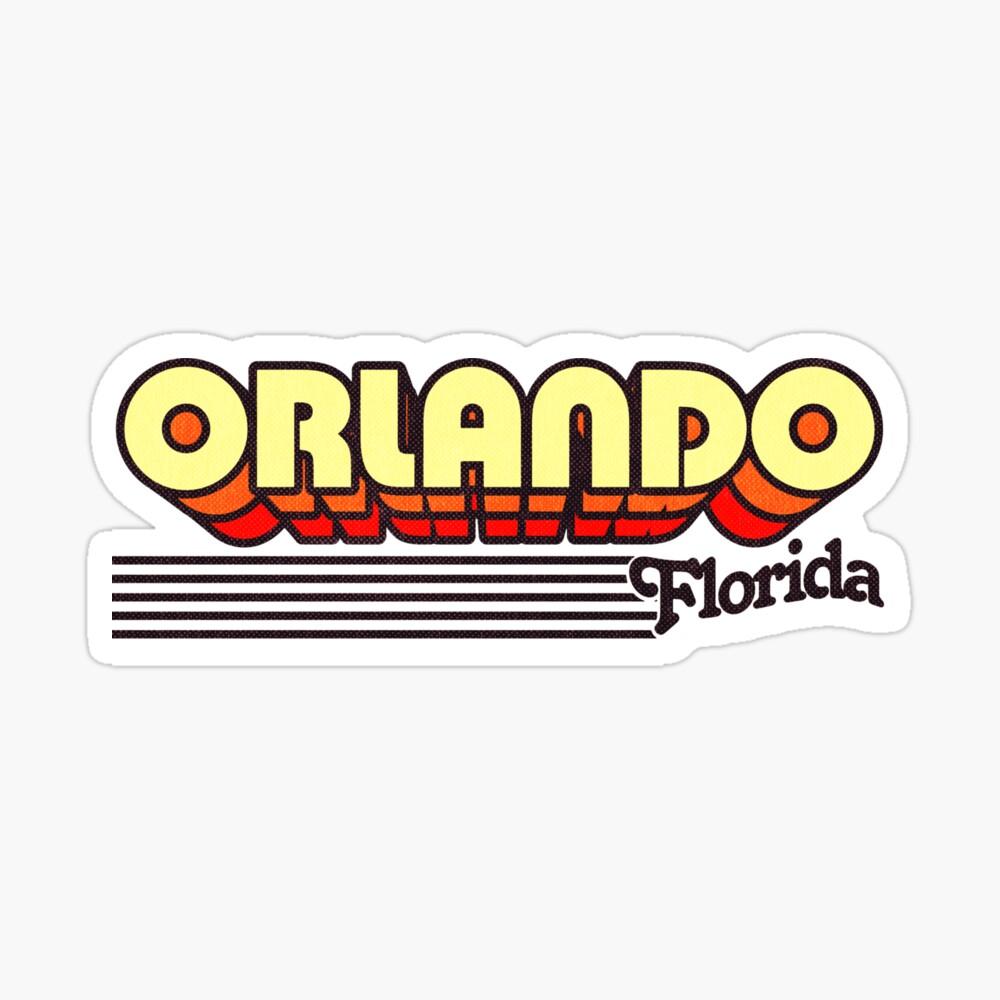 Orlando, Florida | Retro Stripes Sticker