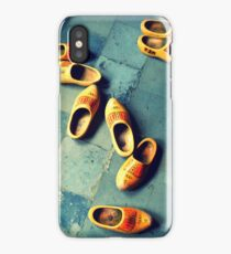 wooden slippers in Holland iPhone Case
