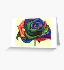 Fancy Me!  (Rainbow Roses) Greeting Card