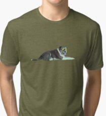 Doggo Wearing Goggles Tri-blend T-Shirt