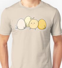 Cute Kawaii Easter Chick and Eggs Unisex T-Shirt