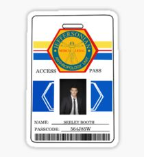 BONES Access Card - Seeley Booth Sticker