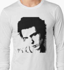 Sid Vicious Black and White punk t shirt Long Sleeve T-Shirt