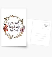The Little Things In Life  Postcards