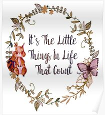 The Little Things In Life  Poster