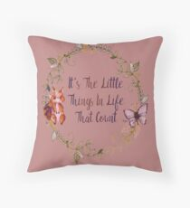 The Little Things In Life  Floor Pillow