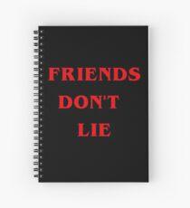 friends don't lie  Spiral Notebook