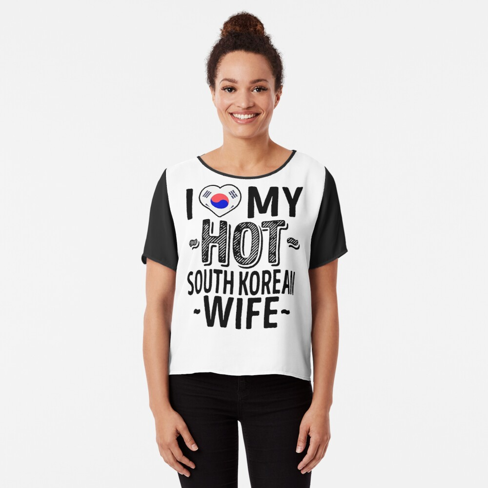 0f5cda565a I Love My HOT South Korean Wife - Cute Korea Couples Romantic Love T-Shirts  & Stickers Slim Fit T-Shirt