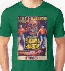 Santo Blue Demon El Mundo De Los Muertos Unisex T-Shirt