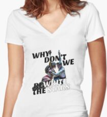 We Rewrite The Stars White Women's Fitted V-Neck T-Shirt