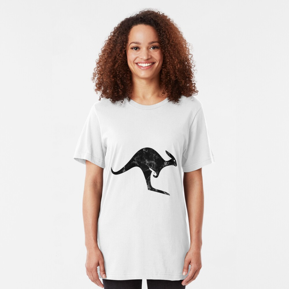 Canguro English Logo (Black) Slim Fit T-Shirt