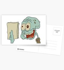 Crazy Squidward Postcards