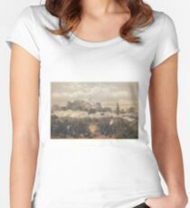 Adolphe Jean-Baptiste Bayot - Storming of Chapultepec – Quitman's Attack (1851) Women's Fitted Scoop T-Shirt