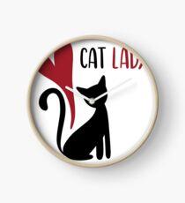 Cat Lady Clock
