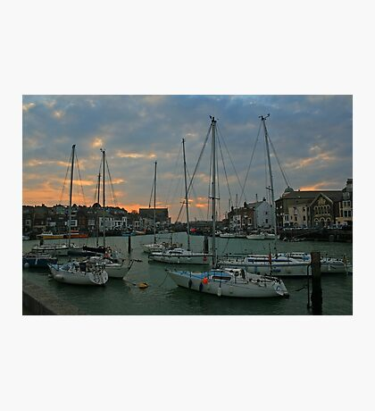 Weymouth Harbour at Dusk Photographic Print