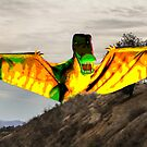 Dino Flying Over the Mountains  by Heather Friedman