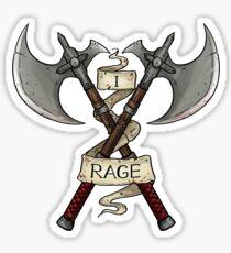 D&D - Barbarian - I Rage Sticker