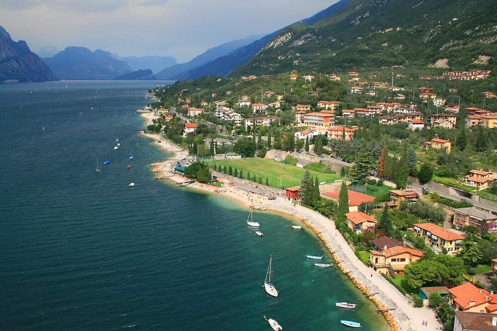 Garda Shoreline, Malcesine by RedHillDigital
