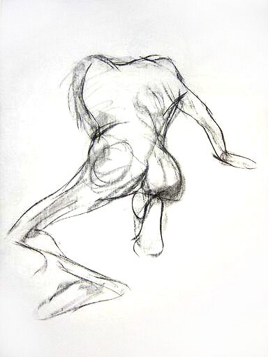 Early nude drawing #3 by BM Ruskin