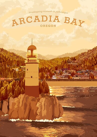 Life is Strange - Arcadia Bay Travel Poster (Sunset) by Carvill