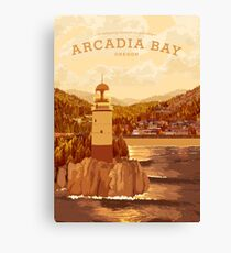 Life is Strange - Arcadia Bay Travel Poster (Sunset) Canvas Print