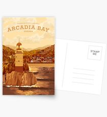 Das Leben ist seltsam - Arcadia Bay Travel Poster (Sonnenuntergang) Postkarten