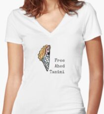 Ahed Tamimi Women's Fitted V-Neck T-Shirt