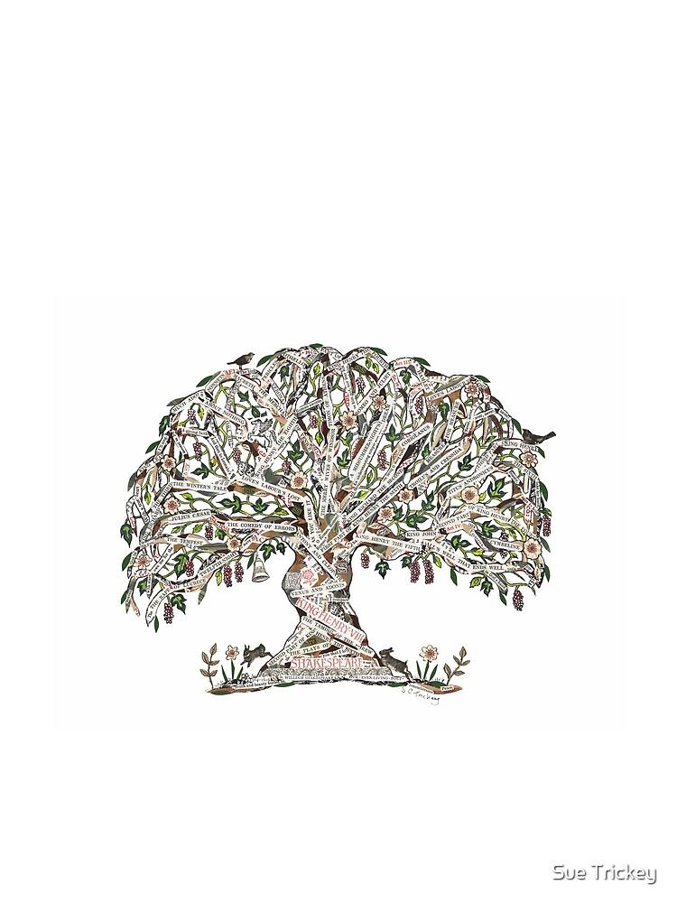 Árbol de Shakespeare por el arte de Sue Trickey de suetrickeyart