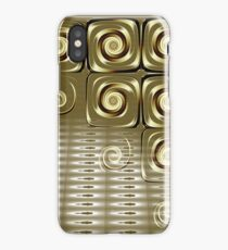 gold swirls abstract iPhone Case/Skin