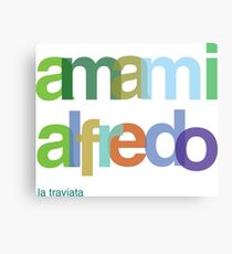 Amami Alfredo - Love me Canvas Print