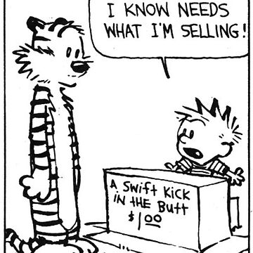 """Calvin and Hobbes """"A Swift Kick in the Butt"""" Comic Strip by Ruby5732"""