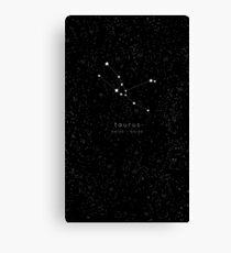 Taurus Zodiac Constellation Canvas Print
