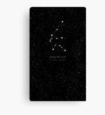Aquarius Zodiac Constellation Canvas Print